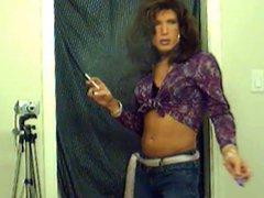 TV TS vidz Brooke Chambers  super Sexy Smoking 1