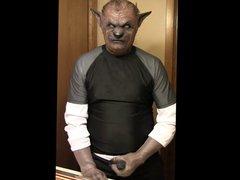 lycra werewolf vidz wanking
