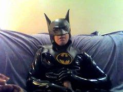 latex batman vidz wanking