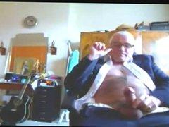Suited Grandpa vidz Cum On  super His Pants