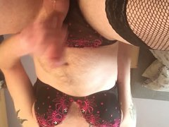 Panty wank vidz in wifes  super bra and thong