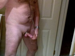 Playing with vidz my ringed  super cock until I come.