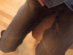 Huge Cumshot vidz - Masturbation  super in Only Jeans and Levi's Jacket