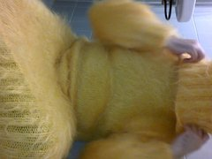 Jerking in vidz yellow sewater  super dress