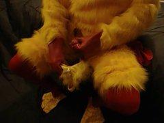 latex chicken vidz cuming in  super his hood