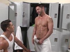 Hot gays vidz fucking in  super locker room