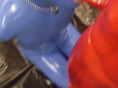 rubber guy vidz sucking his  super friend