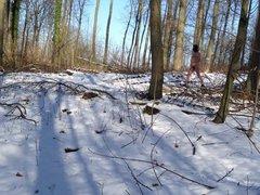 Nackt im vidz Winterwald Naked  super in Winterforest