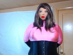 Female masking vidz pink outfit