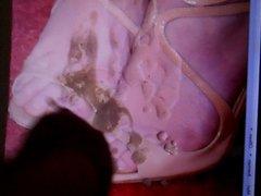 Cum Tribute vidz on Jennifer  super Lawrences Feet