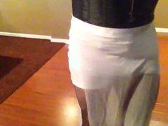 White dress vidz smoking big  super tits