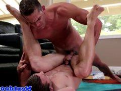 Muscular homo vidz jock pounding  super tight ass