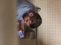 Caught jerking vidz off in  super the men's room (part 2)