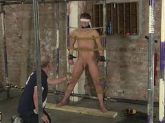 Sweet Casper vidz is blindfolded  super and roped up