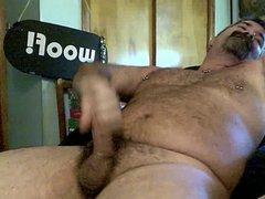 Bear daddy vidz jerking off