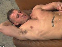 Sexy gay vidz mechanic gets  super fucked in the garage