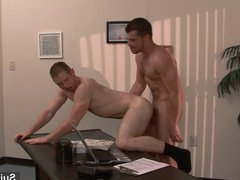 Gorgeous gay vidz gets ass  super banged in the office