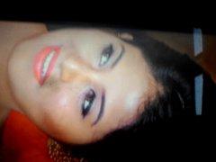 Tamil actress vidz anjali cum  super and spit tribute