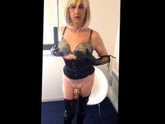 Master's Tranny vidz Whore In  super Chastity