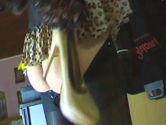 tranny play vidz with high  super heel shoe fetish cumming his load