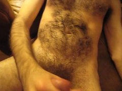 DOUBLE CUMSHOT vidz WITH BIG  super THICK DICK HAIRY CUB