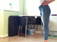 skinny ass vidz boy in  super blue jeans