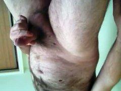 Hairy bear vidz wanking and  super cumming