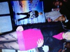 Jessie J vidz pantyhose cum  super tribute