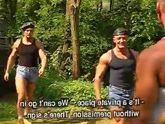Four good vidz looking men  super having sex in the forest