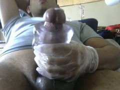 Fucking my vidz toy with  super my phat cock