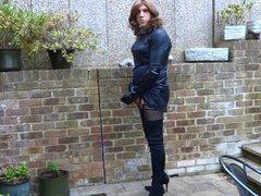Alison Thighbootboy vidz wanking in  super her new lycra thigh boots