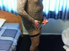 short leopard vidz dress