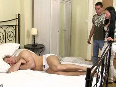 Gay dude vidz rides muscle  super man meat