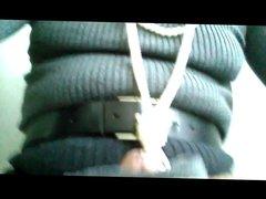 crossdresser cum vidz in ribbed  super wool tights 2