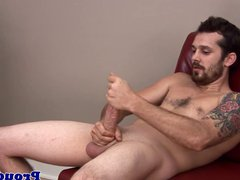 Gay jock vidz wanking himself  super off in the office