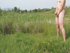 Masturbating near vidz pond with  super audience
