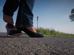 Outdoor in vidz Jeans &  super Heels