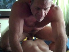 Verbal big vidz dicked muscle  super daddy fucks a young twink boy