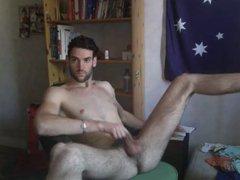 Aussie Hunk vidz Wanks on  super Cam
