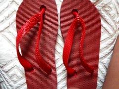 havaianas tradicionais vidz vermelhas viradas