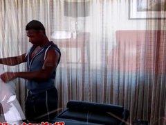 Ebony massage vidz hunk assfucked  super by muscled stud