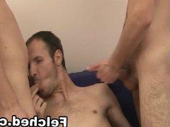 Felched Gays vidz on Threesome  super Anal Sex