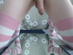 Crossdress riding vidz dildo 7