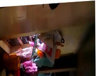 exhib guy vidz at home  super while having a worker doing his job
