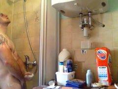 Str8 men vidz in the  super bathroom jerk his dick