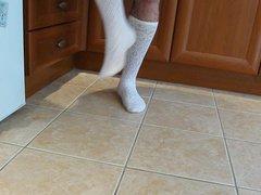 Black Patent vidz High Heels  super and School Girl White Knee Sock