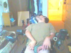disabled guy vidz masturbates with  super dirty talk