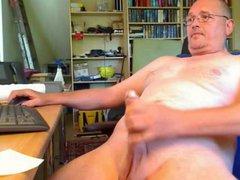 german dad vidz works his  super long cock