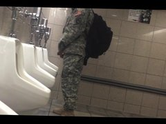 gay soldier vidz at the  super urinal