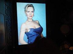 tribute on vidz lady in  super blue dress